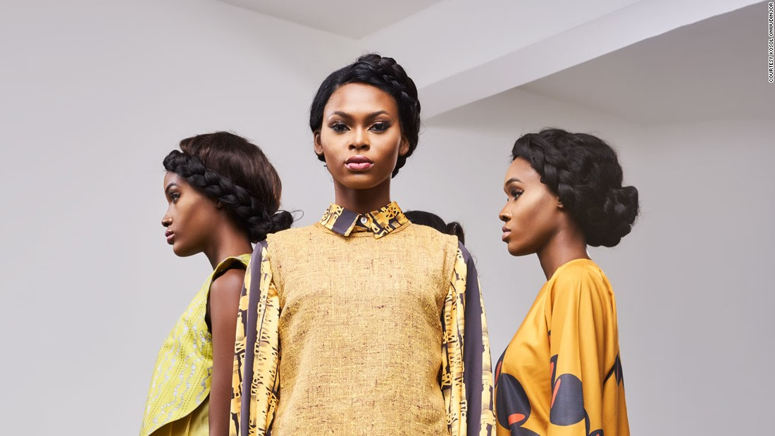 Rukky Ladoja and Obida Obioha started Grey to bring affordable ready-to-wear clothes to the Nigerian market, and regularly exhibit at fashion shows in London and Lagos. Adichie bought several pieces from Grey's Spring/Summer 2017 collection, a series of pieces inspired by traditional Yoruba queens and their support systems.