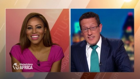 Marketplace Africa Zain Asher talks Jollof Rice and Nigeria with Richard Quest  A_00023725