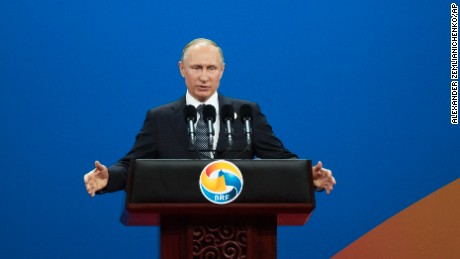 "Russian President Vladimir Putin warned against ""protectionism"" at the Belt and Road Forum."