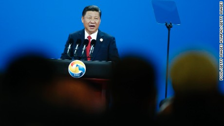 BEIJING, CHINA - MAY 14: Chinese Chinese President Xi Jinping attends the opening ceremony of the Belt and Road Forum on May 14, 2017 in Beijing, China. The Belt and Road Forum focuses on the One Belt, One Road (OBOR) trade initiative. (Photo by Thomas Peter - Pool/Getty Images)