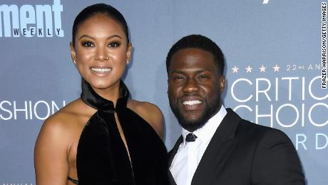 SANTA MONICA, CA - DECEMBER 11:  Eniko Parrish (L) and actor Kevin Hart attend The 22nd Annual Critics' Choice Awards at Barker Hangar on December 11, 2016 in Santa Monica, California.  (Photo by Frazer Harrison/Getty Images)