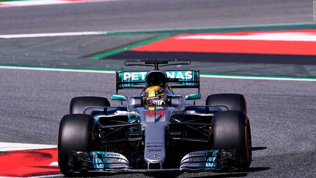 Hamilton on track in Barcelona. Sunday's win was the Briton's 55th of his career and sees him close the gap on leader Vettel at the top of the 2017 Drivers' Championship to six points.