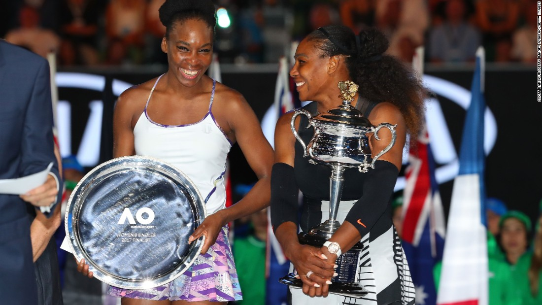 Williams defeated her sister Venus -- at 36 the oldest grand slam finalist in the Open era - in straight sets to claim her seventh Australian Open title.
