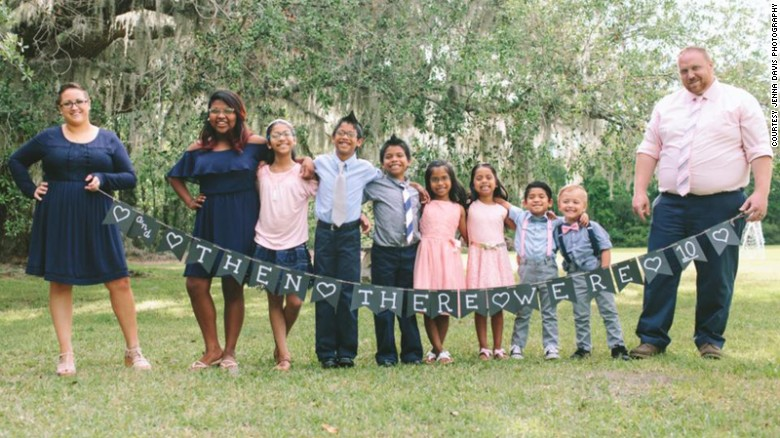 Couple adopts seven foster kids