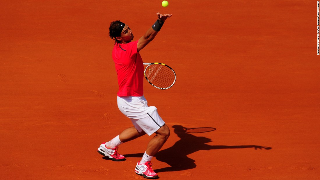 Perhaps in an attempt to gain the upper hand on opponents by blending into the clay, Nadal opted for an orange-ish-red look for the first time at the French Open. It appeared to work, as Nadal dropped just 30 games in the first five rounds, before beating Djokovic in four sets in the final to claim his seventh Roland Garros title and surpass Borg as the tournament's most successful player.