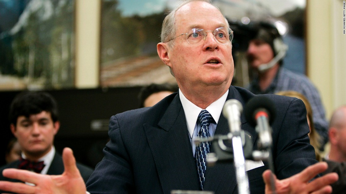 Kennedy discusses the court's budget requests with a House committee in April 2005.
