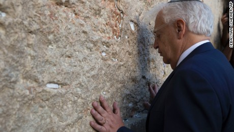 The new US Ambassador to Israel, David Friedman, visited the wall Monday.