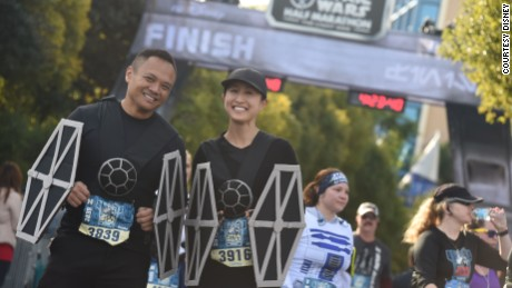 At the 'Star Wars' half-marathon, may the course be with you
