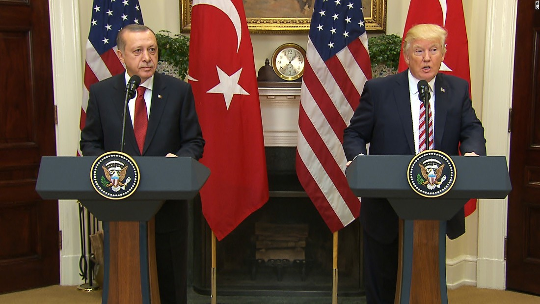 Protesters injured outside Turkish embassy in DC after Trump-Erdogan meeting