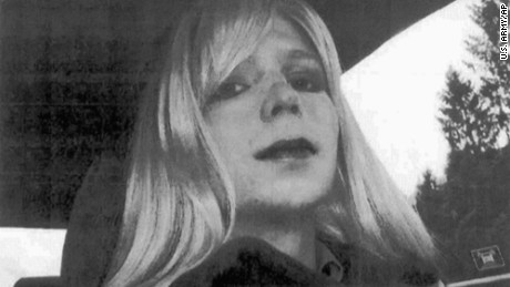 FILE - This undated file photo provided by the U.S. Army shows Pfc. Chelsea Manning wearing a wig and lipstick. Manning, a transgender soldier imprisoned for releasing classified military information, issued a statement Tuesday, May 9, 2017, ahead of her scheduled release May 17, from Fort Leavenworth, Kan., expressing gratitude to her supporters and to former President Barack Obama. Obama granted her clemency shortly before his term ended last year.  (U.S. Army via AP, File)