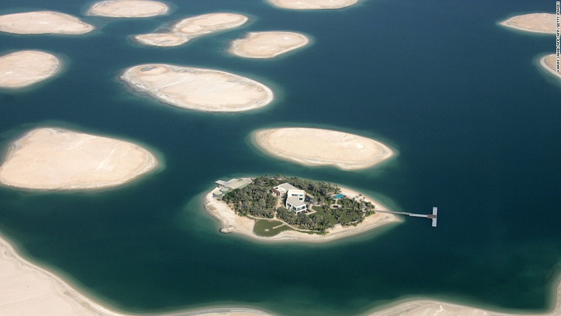 The World or World Islands is an artificial archipelago in  Dubai, United Arab Emirates. The various islands form a world map that can be seen from an aerial view.