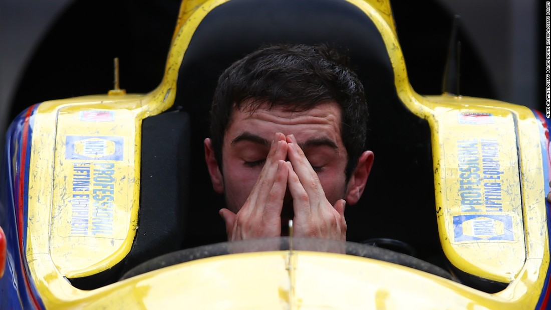 Victory begins to sink in for last year's winner, Alexander Rossi. A former F1 driver, Rossi won the race as a rookie despite starting from 11th place on the grid. The American has since signed a long-term contract with Andretti and is competing again this year.