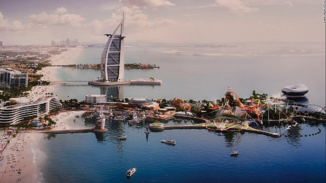 Marsa Al Arab is a $1.7b two-island project from Dubai Holding. The man-made structures, 2.5 million square feet in total, will nestle either side of the Burj Al Arab Jumeirah hotel.