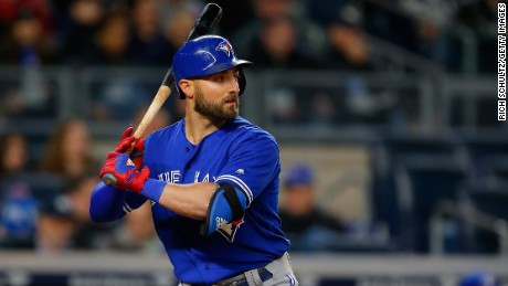 "Toronto Blue Jays center fielder Kevin Pillar, shown earlier this month, called his actions ""immature."""