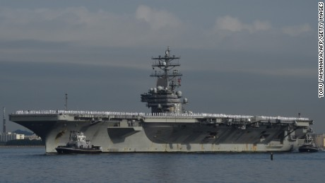 In message to North Korea, 2 US carriers to train together in Sea of Japan