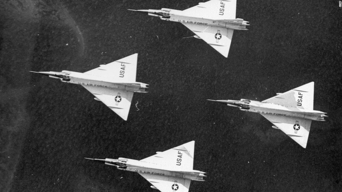 "According to the National Museum of the US Air Force, the F-102 was the USAF's first operational aircraft using the triangular shaped so-called ""delta wing."""