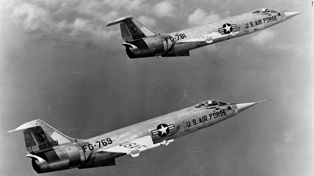 First flight: March 4, 1954. Maximum speed: 1,525 mph. The Starfighter had one of the highest accident rates of any fighter plane in the entire Century Series.