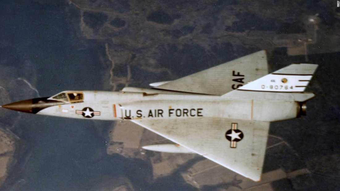 Convair developed the F-106 Delta Dart as a cousin to the F-102 Delta Dagger. Maximum speed: 1,525 mph. First flight: December 26, 1956. Unofficial nickname: The Six.