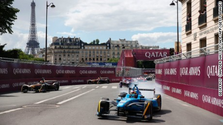 paris eprix buemi victorious as di grassi crashes out cnn. Black Bedroom Furniture Sets. Home Design Ideas