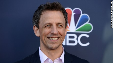"Talk show host Seth Meyers attends NBC's ""Late Night With Seth Meyers"" FYC Event at the Television Academy on May 19, 2017 in Los Angeles, California."