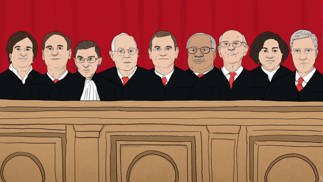 170522152331 current supreme court group illustration super tease - Football News Cnn