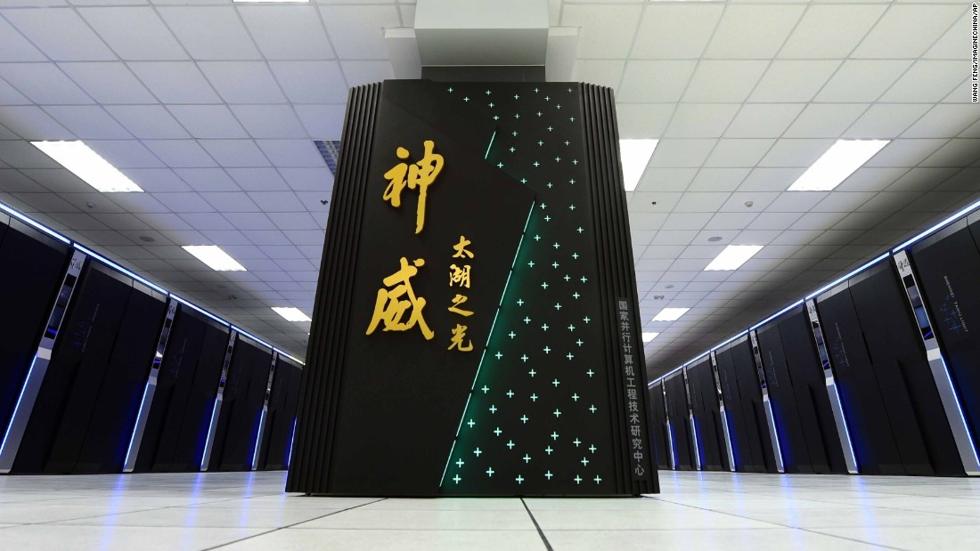Chinese supercomputer Sunway-TaihuLight is currently the fastest supercomputer in the world, operating at 93 petaflops. That means it's able to perform 93 quadrillion (million billion) calculations per second.<br /><br />China uses the supercomputer for weather forecasting, pharmaceutical research, and industrial design.