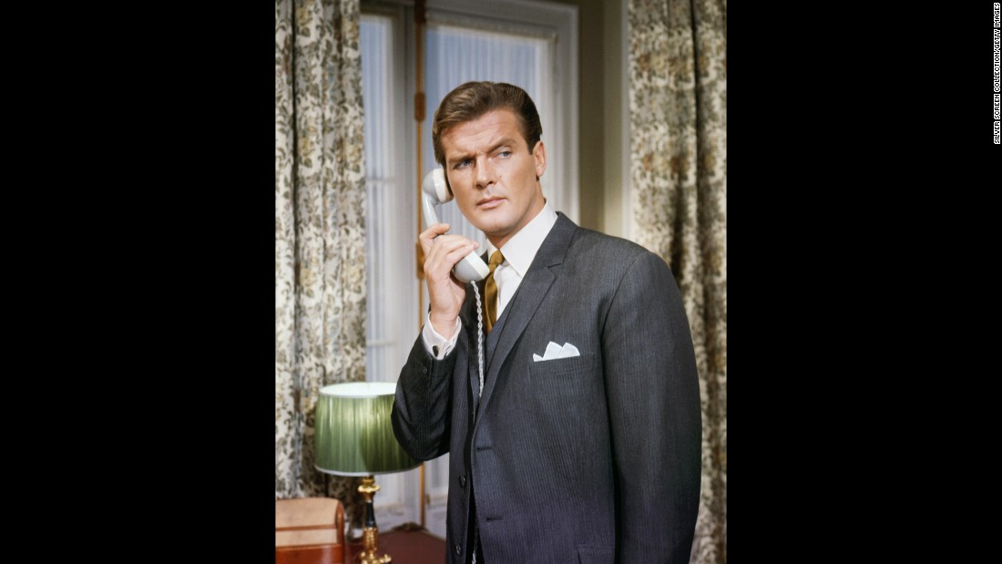 "Moore appears in an episode of the British TV series ""The Saint"" circa 1963. He starred as Simon Templar from 1962 to 1969."