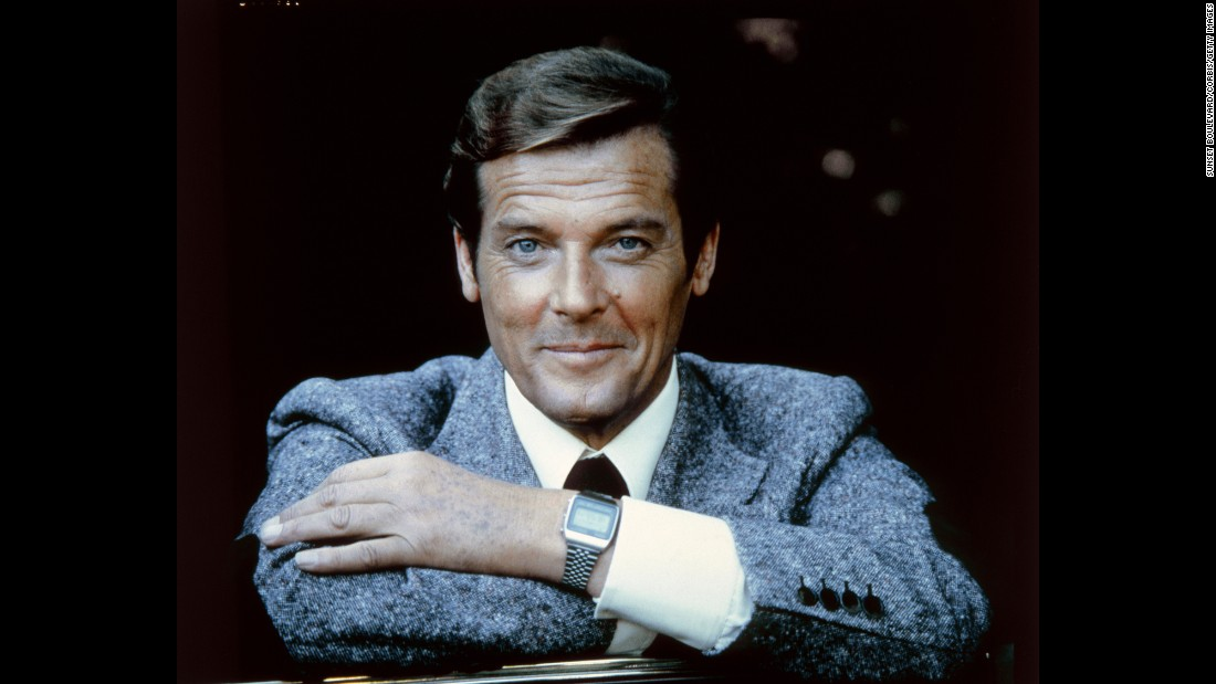"Moore plays James Bond in 1979's ""Moonraker."""