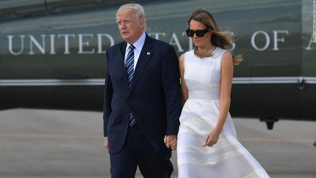 After Monday's 'hand swat,' Tuesday the Trumps make a show of togetherness ... sort of