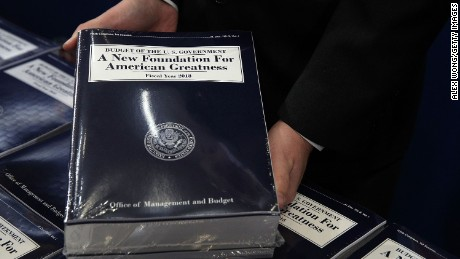 WASHINGTON, DC - MAY 23:  Stacks of President Donald Trump's FY2018 budget proposal are seen during a photo availability May 23, 2017 on Capitol Hill in Washington, DC. President Trump has sent his FY2018 budget proposal request to the Congress.  (Alex Wong/Getty Images)