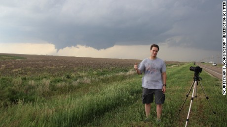 Rich Thompson, lead forecaster with the Storm Prediction Center, finished his overnight shift and drove out to witness the tornado outbreak.