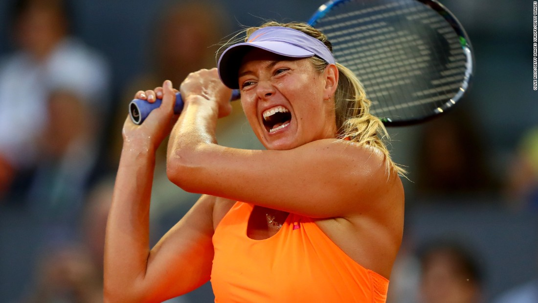 Maria Sharapova has one of the loudest grunts in the game. Measured at 101 decibels, it's roughly the same volume as a jet plane taking off. The Russian, who recently her return from a 15-month drugs ban, has, along with other female players, received criticism for the length and volume of her grunt. Sharapova wasn't given a wild card for the French Open, but has said she is going to play in the Wimbledon qualifiers as she attempts to compete in the season's next grand slam.