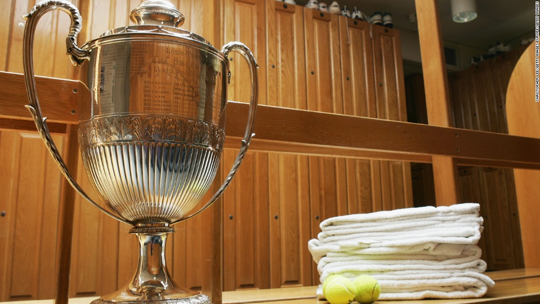London's Queen's Club's dressing room decor has a more old school feel.