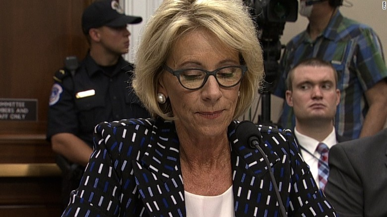 DeVos' answer on school discrimination
