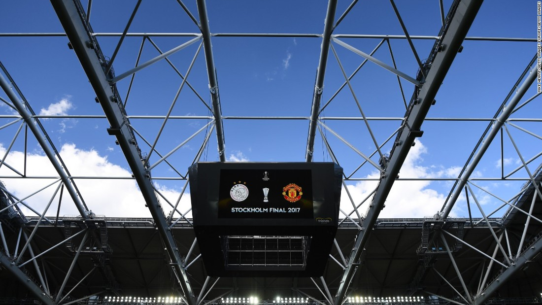 The stage for Wednesday's Europa League final between Ajax and Manchester United was the Friends Arena in Stockholm, Sweden.
