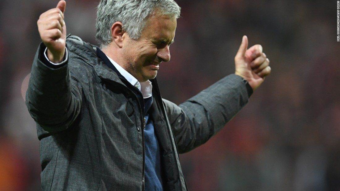 United's Portuguese manager Jose Mourinho has now won three trophies in his first season at Old Trafford.