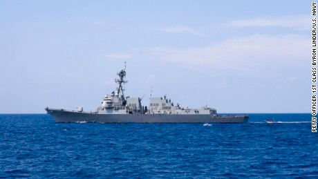 South China Sea: US warship challenges China's claims with first operation under Trump