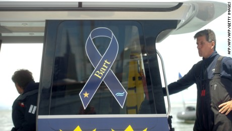 A ribbon in memory of Andrew 'Bart' Simpson adorns Artemis Racing's vessels.
