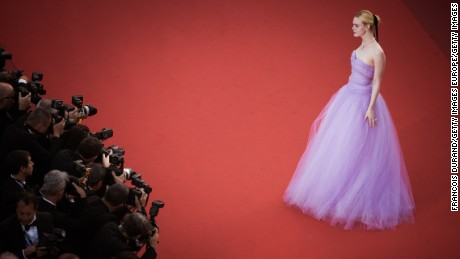 "CANNES, FRANCE - MAY 24:  (EDITORS NOTE : this image has been processed with digital filters) Elle Fanning attends the ""The Beguiled"" screening during the 70th annual Cannes Film Festival at Palais des Festivals on May 24, 2017 in Cannes, France.  (Photo by Francois Durand/Getty Images)"
