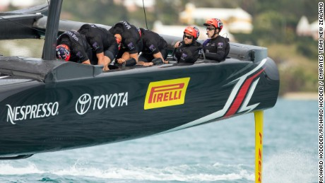 13/05/17- Emirates Team New Zealand sailing on Bermuda's Great Sound testing in the lead up to the 35th America's Cup