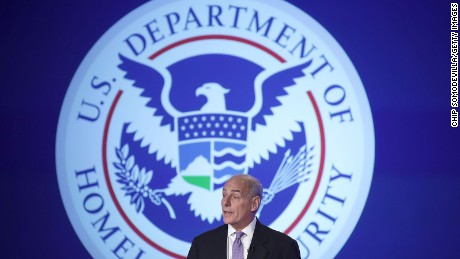 WASHINGTON, DC - APRIL 18: U.S. Homeland Security Secretary John Kelly delivers his first public remarks since being appointed by President Donald Trump at the Jack Morton Auditorium on the campus of The George Washington University April 18, 2017 in Washington, DC.