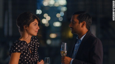 "Francesca and Dev share a moment in ""Master of None"" Season 2."