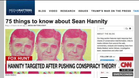Hannity targeted after pushing conspiracy theory