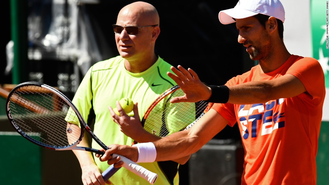 "But it's so far so good for Djokovic-Agassi... <a href=""https://twitter.com/cnnsport"" target=""_blank""><strong>Who will win the French Open?<em></strong> Have your say tweeting @CNNSport. </em></a>"