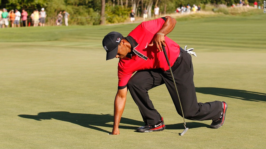Later in 2013 there were signs all was not well as Woods was seen to be in pain as he picked the ball out of the hole at the Barclays tournament in August. His missed the Masters the following April for the first time since 1994 to undergo back surgery.