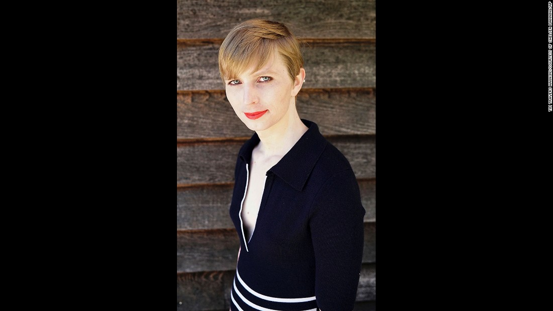 "US Army Pvt. Chelsea Manning <a href=""http://www.cnn.com/2017/05/18/politics/chelsea-manning-instagram/"" target=""_blank"">posted this self-portrait to her Instagram account</a> on Thursday, May 18. Manning, the transgender soldier formerly known as Bradley Manning, revealed her new look after <a href=""http://www.cnn.com/2017/05/17/politics/chelsea-manning-release/"" target=""_blank"">being freed from a military prison</a> in Kansas. Manning was convicted in 2013 of stealing classified documents and videos and giving them to WikiLeaks. She was sentenced to 35 years in prison, but President Barack Obama commuted her sentence in January."