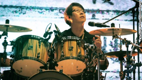 Drummer Liu Yen-ming, or Guan You