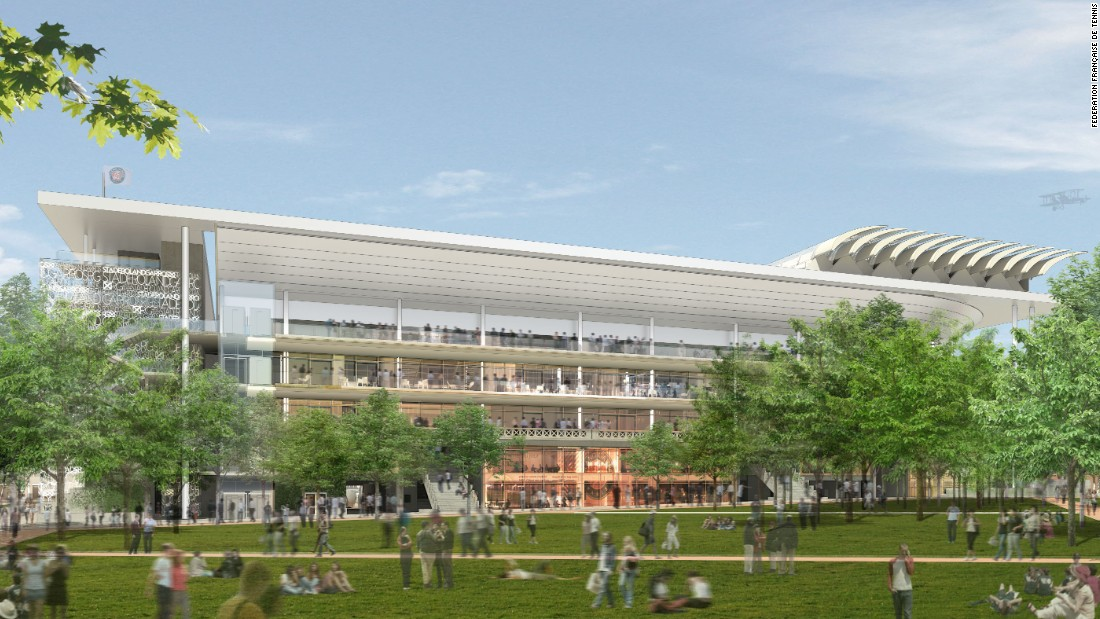 A new retractable roof will adorn the showcase Philippe Chatrier Court as part of the $400 million upgrade.<br />