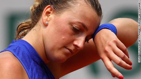 Kvitova was playing competitively for the first time since December's stabbing