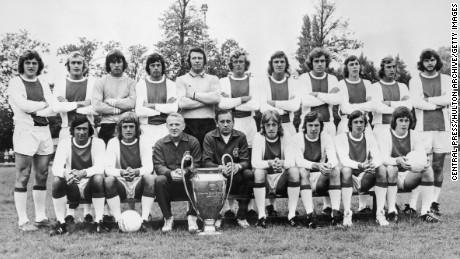 Ajax's 1973 European Cup winning team.